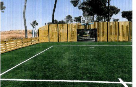 המשרד לפיתוח הפריפריה, הנגב והגליל ממשיך לחזק את תחום הפנאי בבני ברק ומקים מגרש כדור משולב