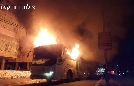 חדשות בני ברק: המהומות נמשכות, שוטר ירה באוויר, אוטובוס הוצת.